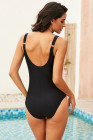 Black Utopia Shaped Square Neck One-piece swimsuit