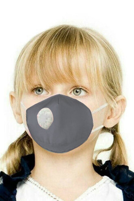 Gray Toddler Breath Protection Valved Respirator Face Mask