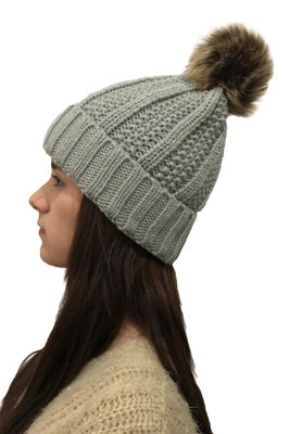 Gray Fashion Warm Wool knitted hats